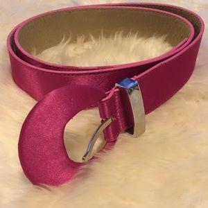 Accessories - Pink satin belt